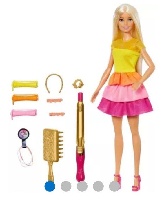 Barbi barbie stylowe loki fryzjerka lalka lokówka Ząbki - image 1