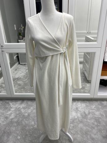 Sukienka midi biała do karmienia