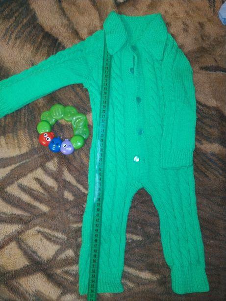Вязаный костюмчик от 0-2 лет