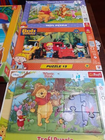 Puzzle 15 kubuś puchatek, Bob budowniczy