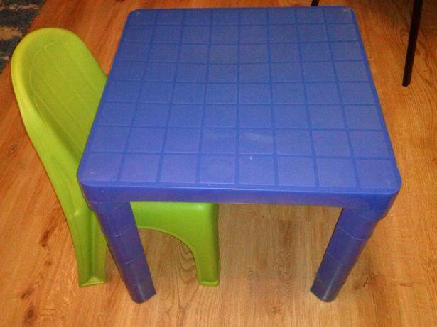 Plastikowy składany stolik+krzesełko dziecięce