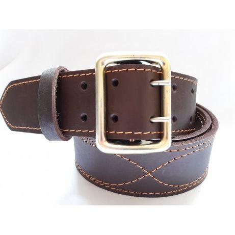 Партупея ремень офицерский кожаный коричневый 5 см ширина длина 130 см