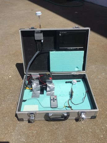 Kit Fpv com mala de Aluminio e bateria