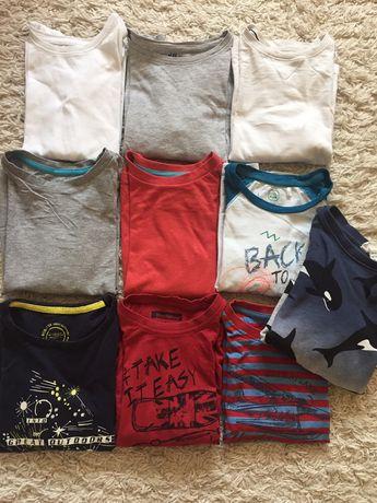 Zestaw bluzek koszulek chłopiec 110/116