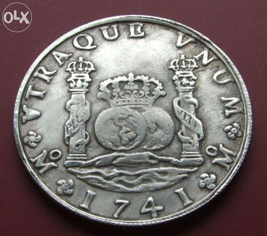 $$$ PHILIP V 1741 ROK $$$ HISZPANIA - Stara Moneta Śr. 39 mm