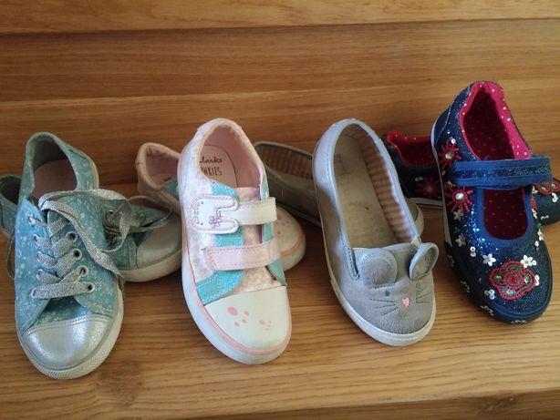 jak nowe Clarks F&F Carry buty baleriny tenisówki dla dziewczynki 28