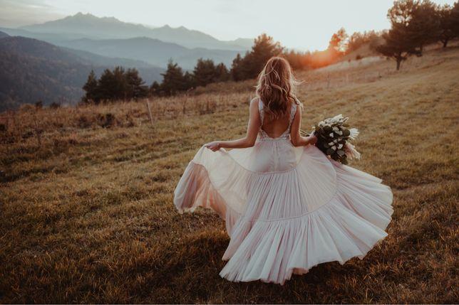Suknia ślubna boho, rustykalna, La Petra by Anna Sposa Lalia