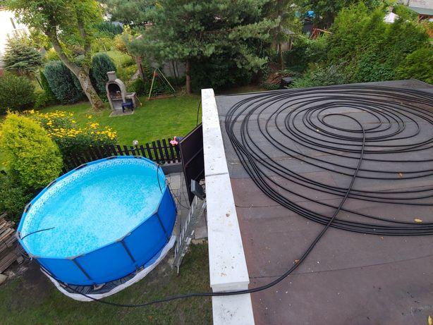 Wąż grzewczy karbowany 25mm 250mb / Do ogrzewania basenu