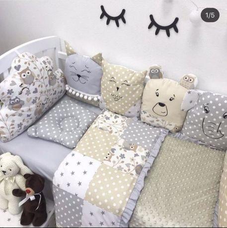 Комплект в кроватку,бортики, кокон