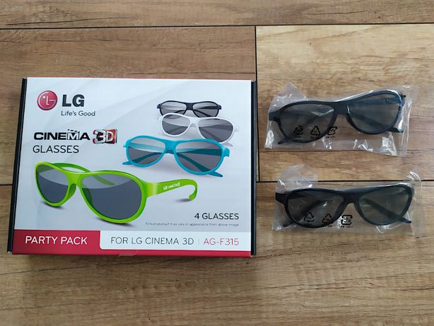 Okulary 3D LG do telewizora, 6 sztuk, czarne, kolorowe