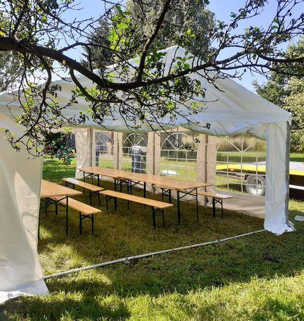 Namiot grill głośnik parasol grzewczy wynajem imprezy okolicznościowe