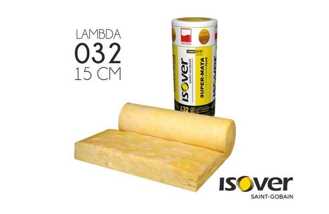 Isover Super Mata Plus 15 cm | 150 mm | wełna mineralna | dach poddasz