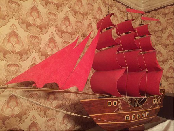 Деревянная модель фрегата