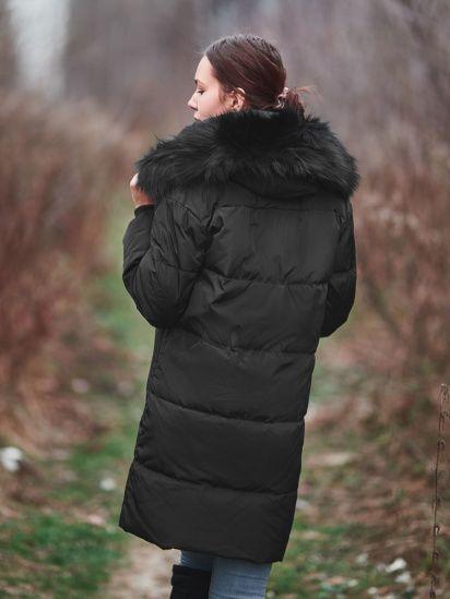 Женский черный пуховик Braska,размер L,удлиненная куртка,зимнее пальто Киев - изображение 1