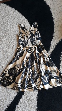 Sukienka czarna złota XL