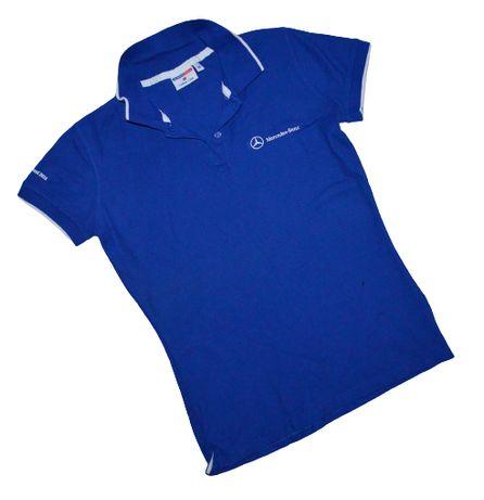 Mercedes-Benz r.36 niebieska koszulka polo