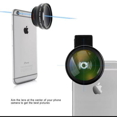 Лінза на телефон, ширококутова насадка wide angle ZOMEI 2в1