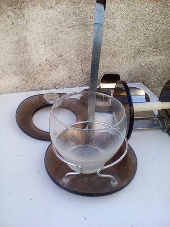 conjunto 4 toalheiros em vidro castanho