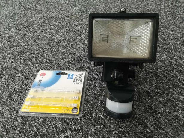 Lampa halogenowa z czujnikiem ruchu - żaróweczki GRATIS