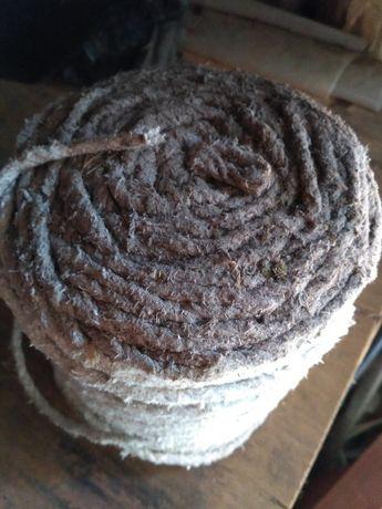 продам шнур асбестовый диаметром 6мм по 4,5грн за м