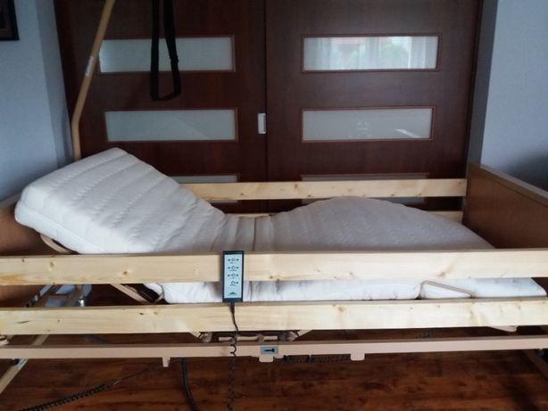 Łóżko Rehabilitacyjne burmeier 4 funkcyjne +wysięgnik +materac