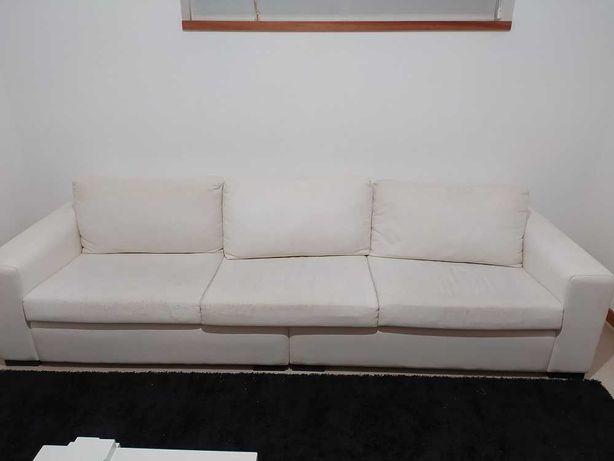 Sofá branco com 2,80m