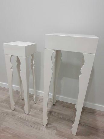 Mesas Decorativas, branco lacado