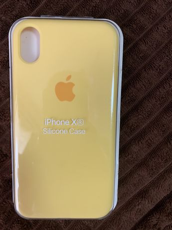 Чехол жовтий на айфон XR