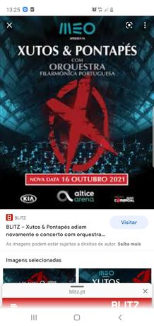 Bilhetes Xutos &Pontapés com Orquestra