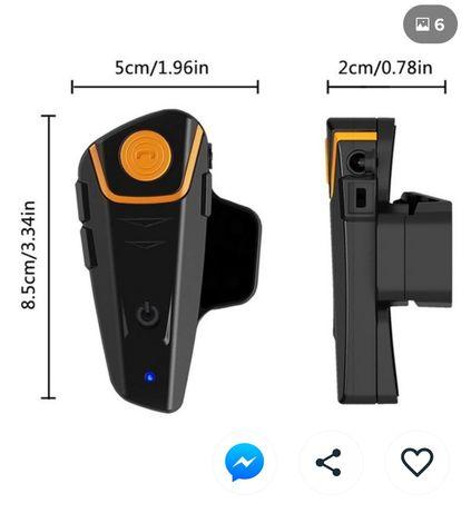 Auricular Bluetooth para capacete.
