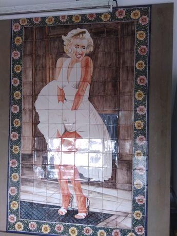 Quadro de Azulejos - Cerâmica - Marylin Monroe EXCLUSIVO