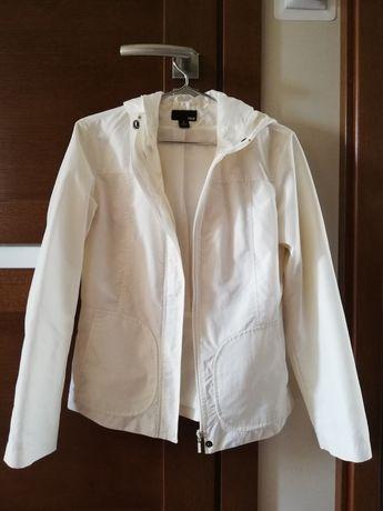 Biała letnia kurtka H&M S