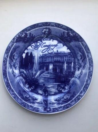 Сувенирная тарелка Петергоф