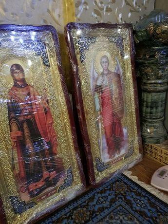 Икона большая Матронушка, св.Татьяна, св.Михаил 130х60