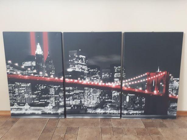 Duży obraz czerwony Most Brookliński.