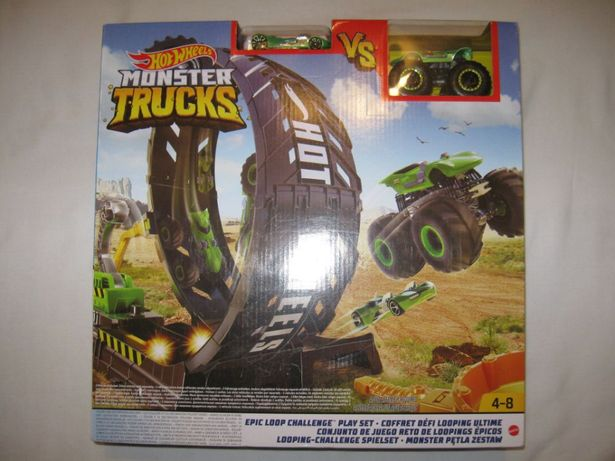 Hot Wheels Tor Pętla Monster Trucks - 2 Auta - Nowy