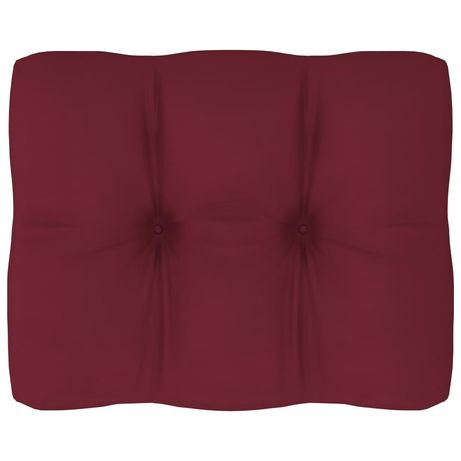 vidaXL Almofadão para sofá de paletes 50x40x12 cm vermelho tinto 314432