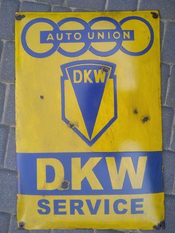 szyld emalia DKW service