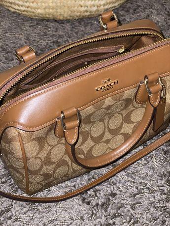 Coach crossbody, сумка кожаная, брендовая, через плечо