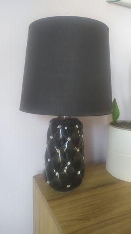 Lampa stołowa Glamour czarna cyrkonie OKAZJA