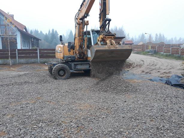 Usługi Koparka kołowa i transport wywrotka 6x6