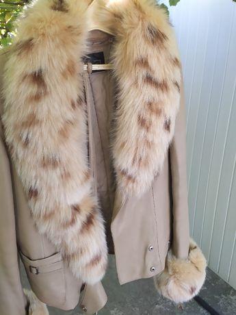 Зимняя-весення куртка кожа 3XL