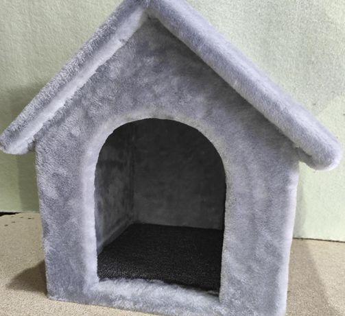 Домик будка лежанка из меха для собаки . Ручная работа. Pups-663