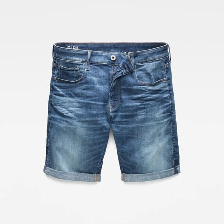 G-Star Raw Szorty 3301 Slim Medium Blue 34