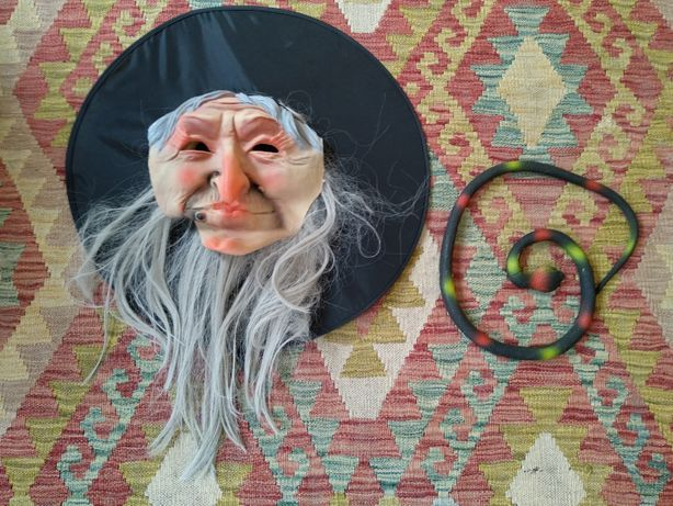 Máscara Bruxa Carnaval ou Halloween + Cobra