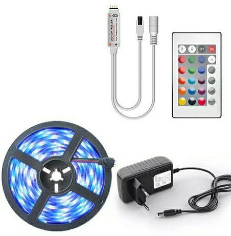 Kit de Fita Led 5M RGB - Kit Completo *Entrega Imediata*