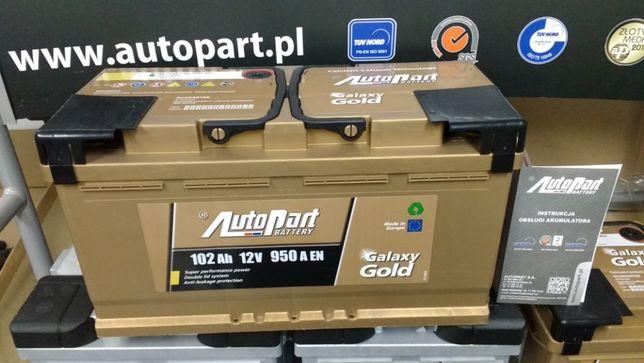 Akumulator AutoPart Galaxy Gold 102Ah 950A Mielec 100Ah CA1000 H1 Krak