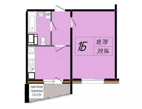 1-комнатная квартира в новом доме на Юровке