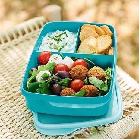Caixa snack com divisórias, Tupperware