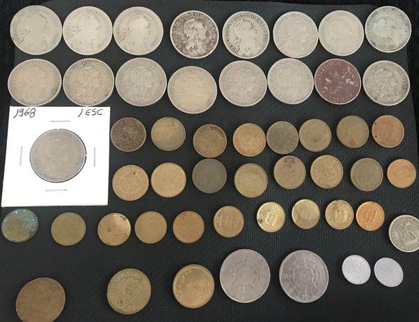 Lote moedas antigas 1 escudo. Também de 2.50, 20 escudos e 10 centavos